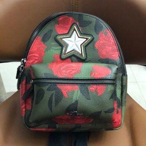 Coach Mini Backpack Camo Rose
